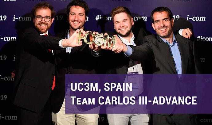 El equipo de la Universidad Carlos III de Madrid, ganadores del reto planteado por Carrefour y Google
