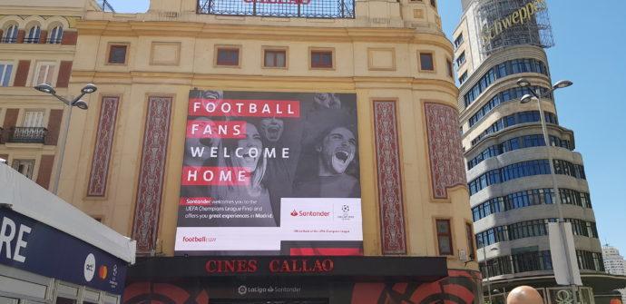Callao, centro publicitario de la final de la UEFA Champions League