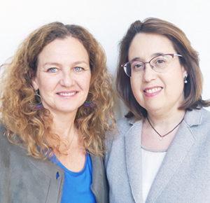 De izquierda a derecha, Patricia Ara y Marta Esteban.