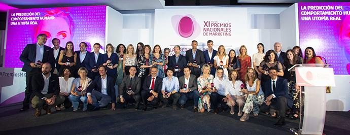 Los ganadores de la XI edición de los Premios Nacionales de Marketing 2019.