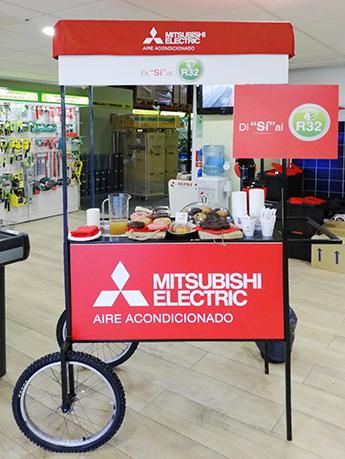Acción de marketing directo en el mismo punto de venta, con la instalación de carritos de desayuno.