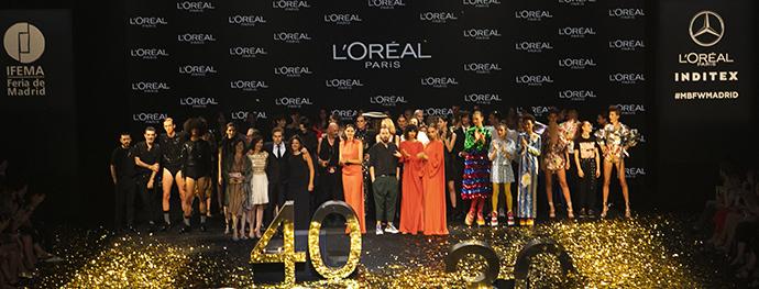 Este apoyo ha supuesto más de 30 millones de euros invertidos, convirtiéndose en la empresa de belleza que más apoya a la moda nacional.