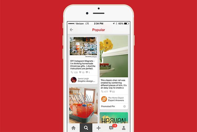Pinterest permitirá publicar pines promocionados a través del teléfono móvil