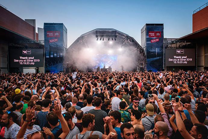 En la edición 2018 del festival de música Sónar se repartieron 60.000 pulseras con tecnología RFID