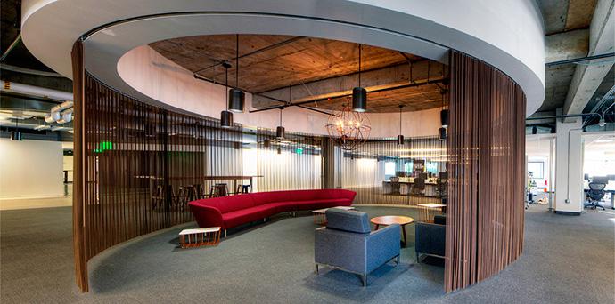 Interior del próximo campus de WPP situado en San Francisco (Estados Unidos)
