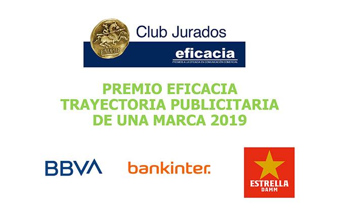 BBVA, Bankinter y Estrella Damm, nominados al Premio a la Trayectoria publicitaria