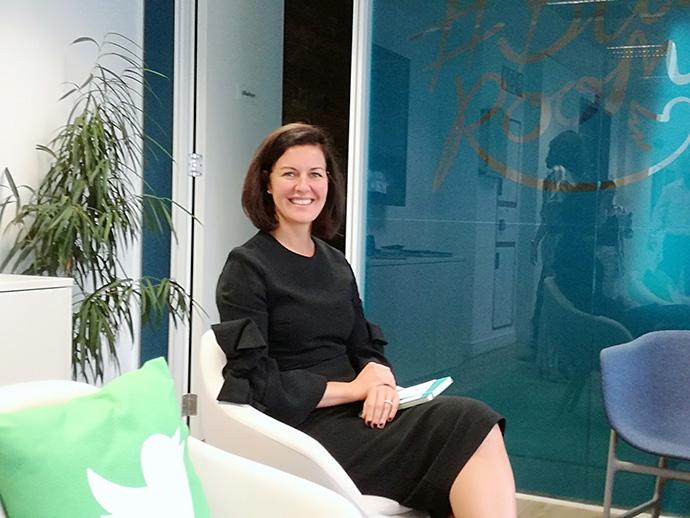 Sarah Personette, directora global de negocio de Twitter