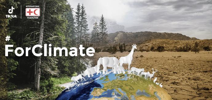 TikTok, Cruz Roja y Media Luna Roja lanzan el desafío #ForClimate