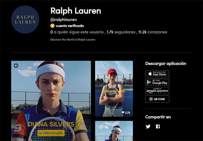 Ralph Lauren lanza en EEUU la primera campaña en Tik Tok
