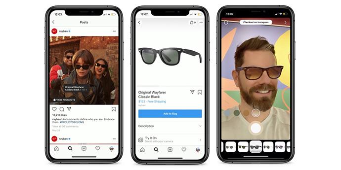 Instagram prueba la realidad aumentada en Instagram Shopping con cuatro marcas