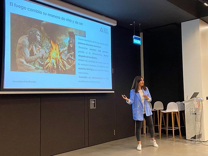 Leticia Michelena durante su intervención en Arena Tech & Trends
