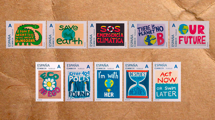 Protest Stamps, la colección de sellos de Correos con conciencia ambiental