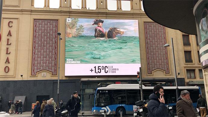 WWF España, Museo del Prado y Callao City Lights juntos por la Cumbre del Clima