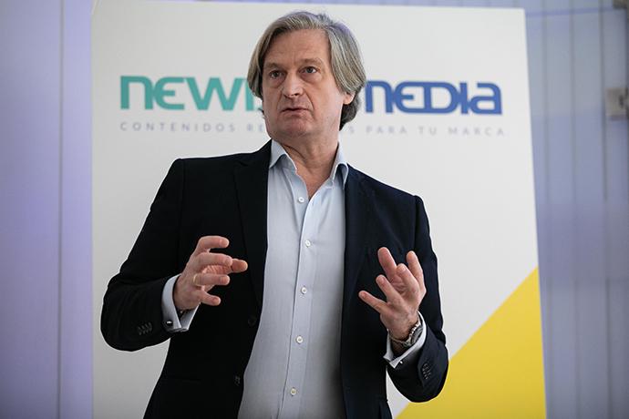 Eduardo Ballesteros Marra – López, director general de NewixMedia durante la presentación de la nueva marca de comercialización de su oferta publicitaria.