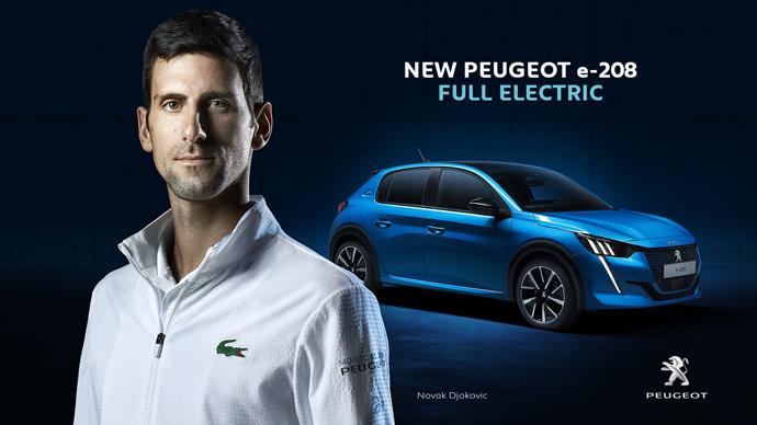 """""""Move to Electric"""", la nueva campaña de Peogeot protagonizada por Novak Djokovic"""