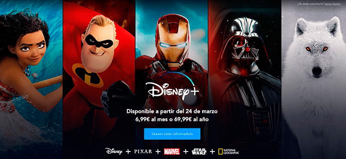 Disney+ estará disponible en España a partir del 24 de marzo