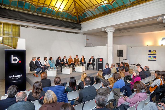 Vista general del acto de celebración del décimo aniversario de Aebrand en el Aula Magna del IED Madrid.