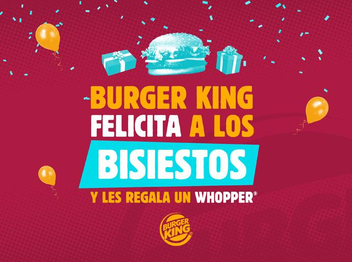 Burger King tiene algo para todos los nacidos el 29 de febrero