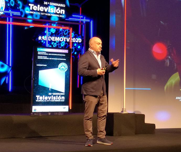 Manuel Balsera, director general de AMC Networks, durante la presentación del índice M.I en AedemoTV 2020