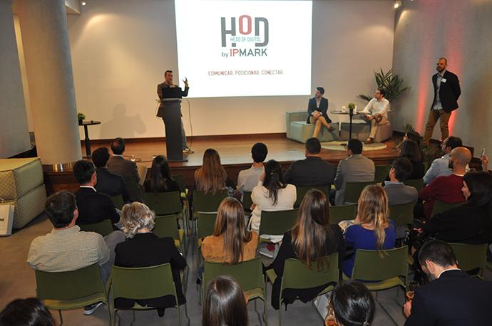 Jorge Palacios, country manager de Invibes, presentando las conclusiones en el primer Head of Digital de 2020.