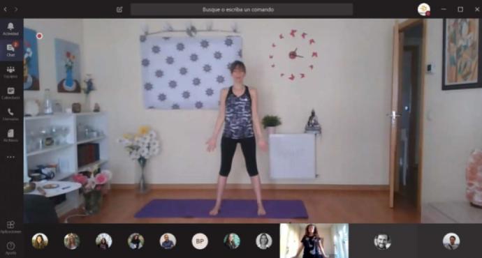 El primer proyecto es un curso de yoga online que se transmitirá en directo dos días a la semana.