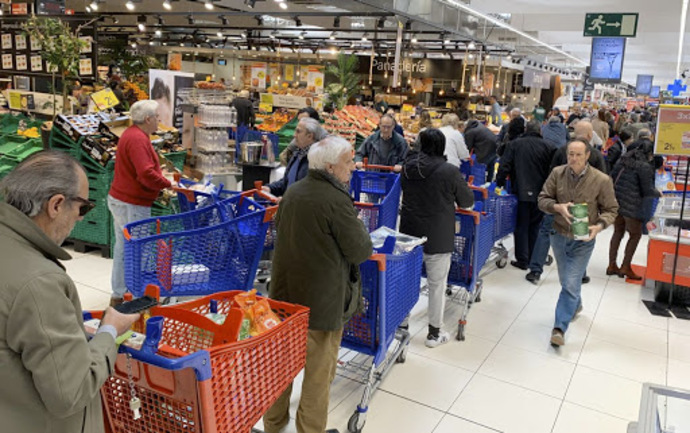 Las ventas de gran consumo crecieron un 71% en la primera semana de confinamiento