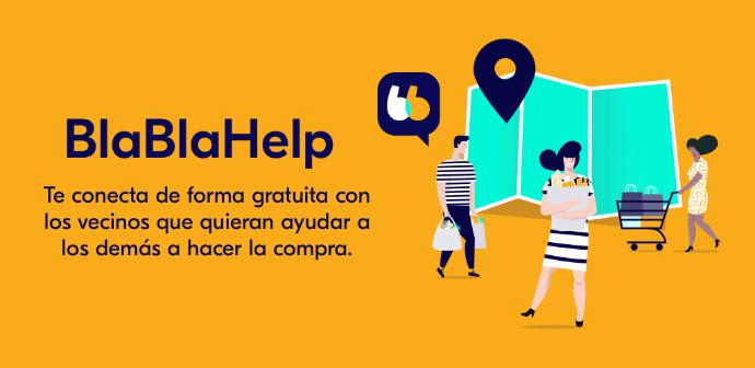 BlaBlaCar ha lanzado la aplicación 'BlaBlaHelp' que pone en contacto a vecinos que necesitan ayuda para realizar la compra con voluntarios.