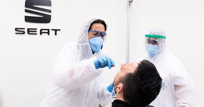 Seat realizará test PCR a sus trabajadores antes de su reincorporación