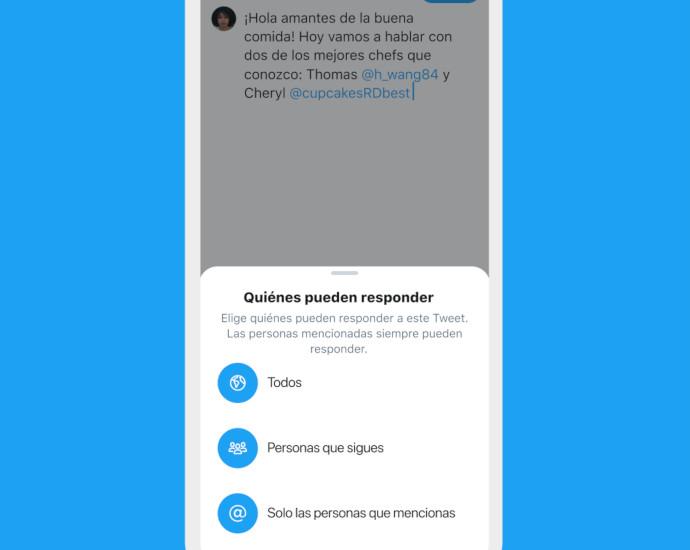 Twitter prueba con un grupo de usuarios una funcionalidad que permite elegir quiénes pueden responder a los tuits