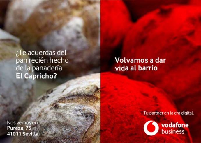Vodafone Business cede sus 'mupis' a los comercios de proximidad
