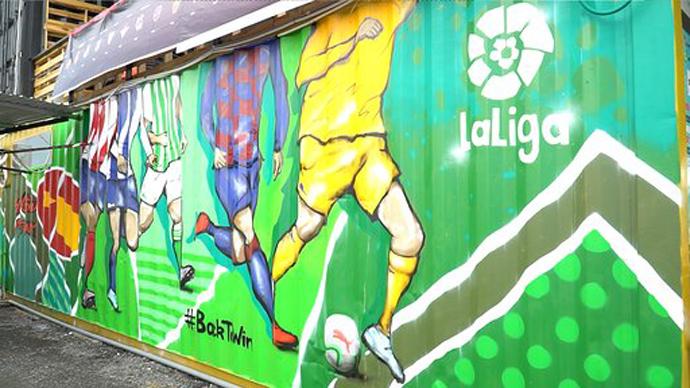 LaLiga lanza una campaña mundial de arte urbano para celebrar la vuelta del fútbol