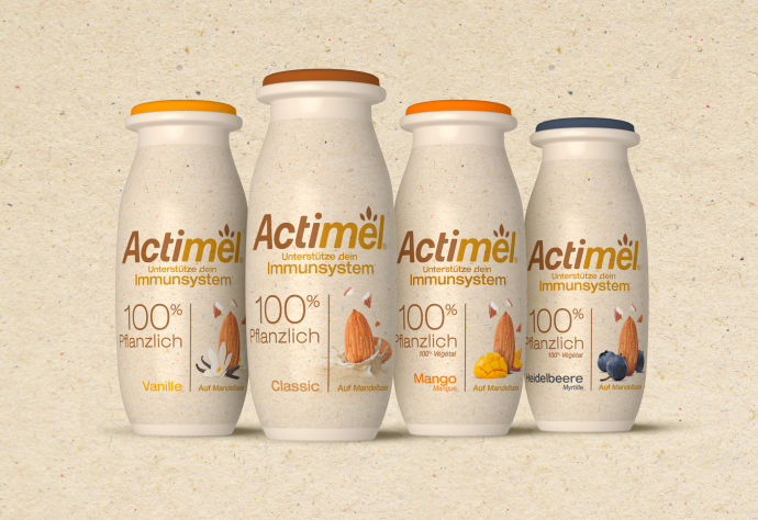 Actimel confía en VMLY&R Barcelona para el packaging de su nueva bebida 100% vegetal