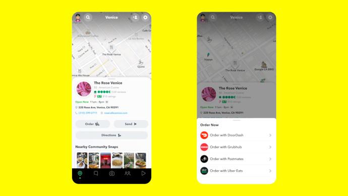 Snap incorpora negocios locales en el mapa de Snapchat