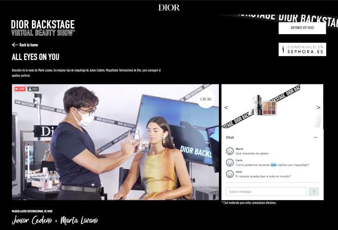 Dior aprovecha el canal digital para probar un formato de festival virtual interactivo