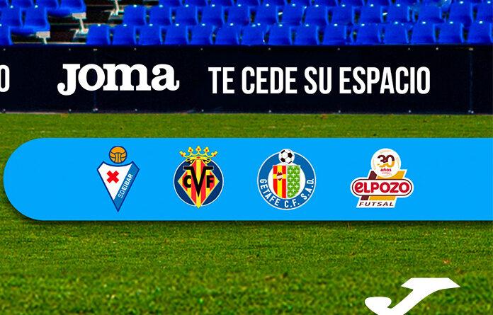 Joma cede sus vallas digitales a los aficionados de Villarreal, Eibar y Getafe