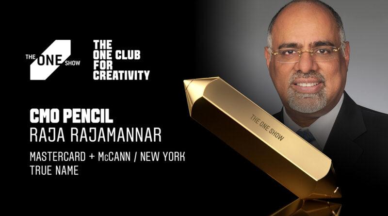 Raja Rajamannar, CMO de Mastercard, ganador del One Show CMO Pencil con 'True Name'