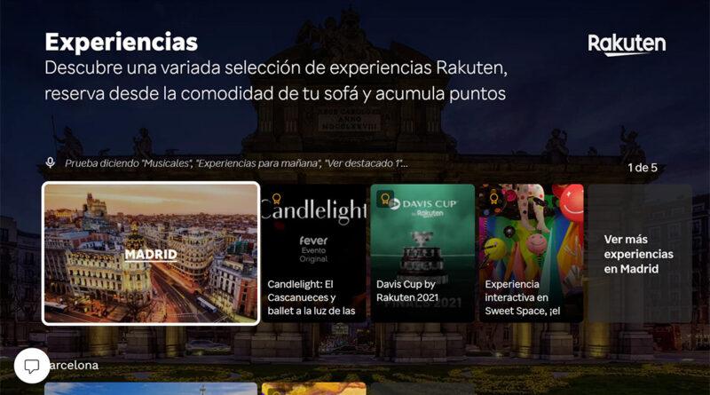 Rakuten y Telefónica lanzan una App para consultar eventos desde casa