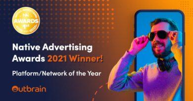 Outbrain se convierte en la Plataforma/red de Publicidad Nativa del Año