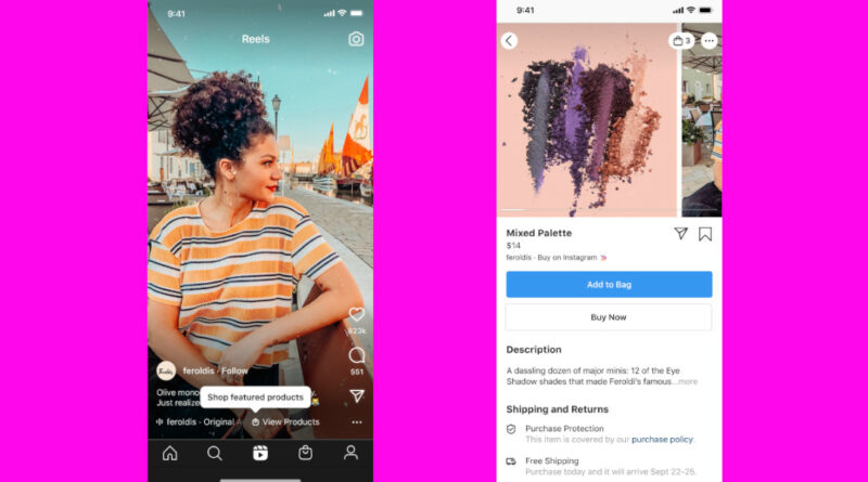 Instagram incorpora etiquetas de producto a Reels