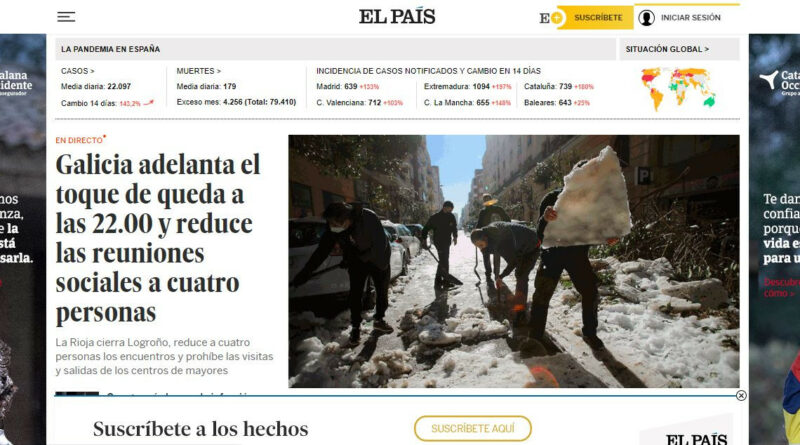 Prisa publicará los datos de tráfico y suscripción El País, AS, CincoDías y El HuffPost